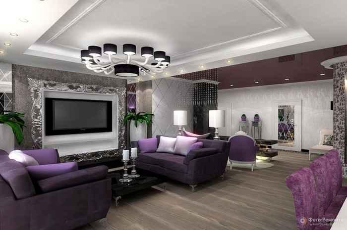 Цветные диваны в интерьере