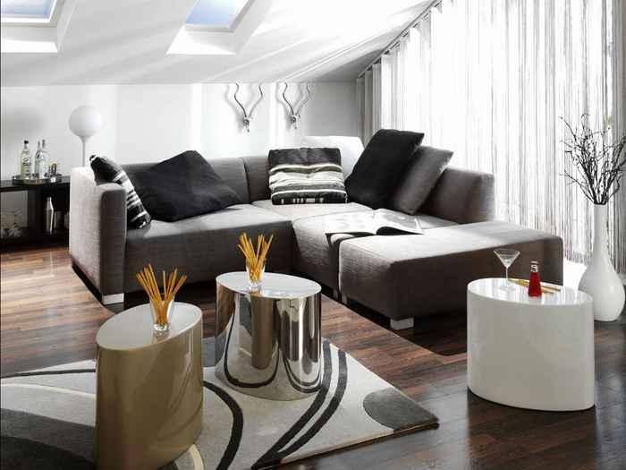 Дизайн штор в однокомнатной квартиры