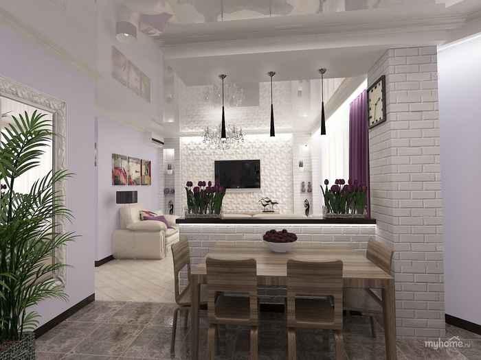 Дизайн гостиной комнаты с лестницей