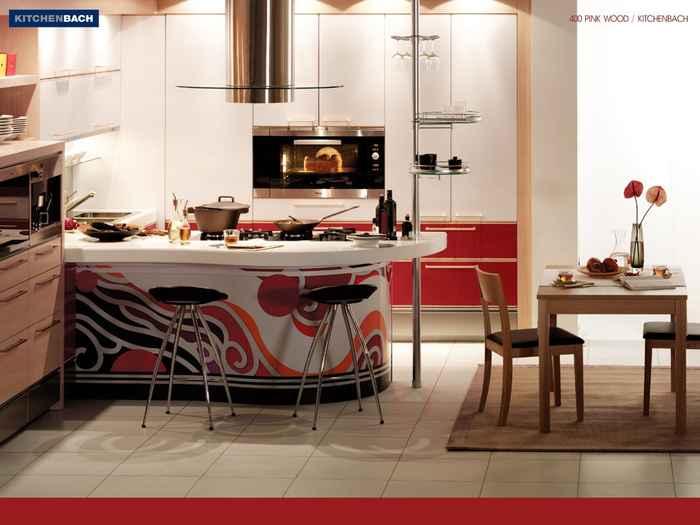 Интерьер комнаты кухни