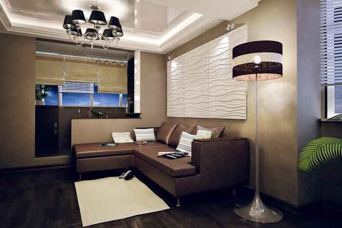 3д дизайн гостиной