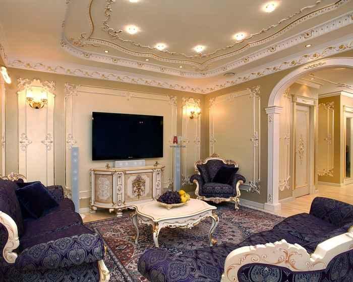 Красивый интерьер зала